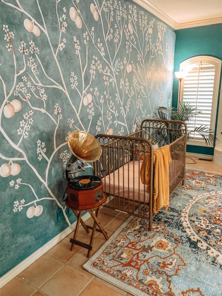 jewel toned baby nursery