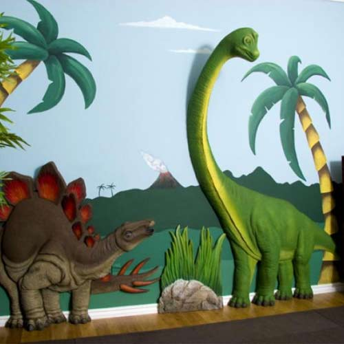 Dinosaur Toddler Bedding Dinosaur Art in Boys Bedrooms
