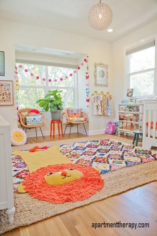 A colorful baby boy nursery