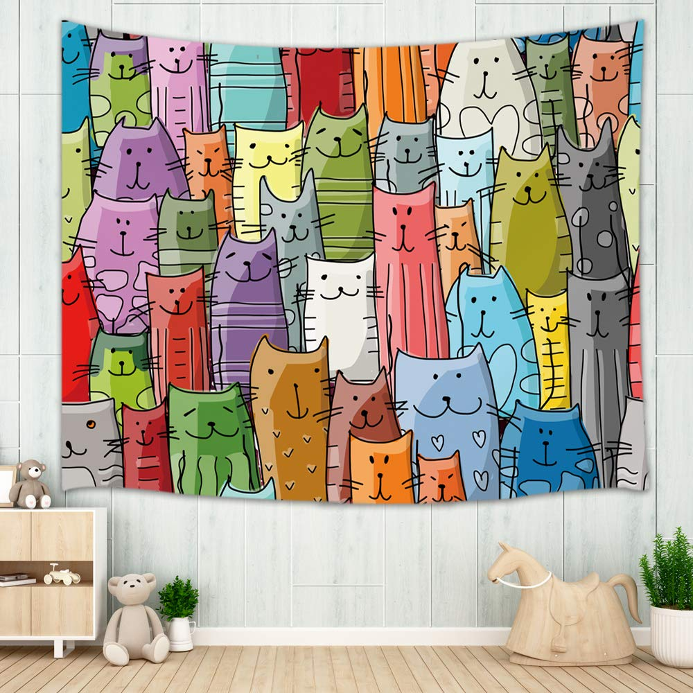 Kitten Decor for Kids Tapestry Wall Hanging