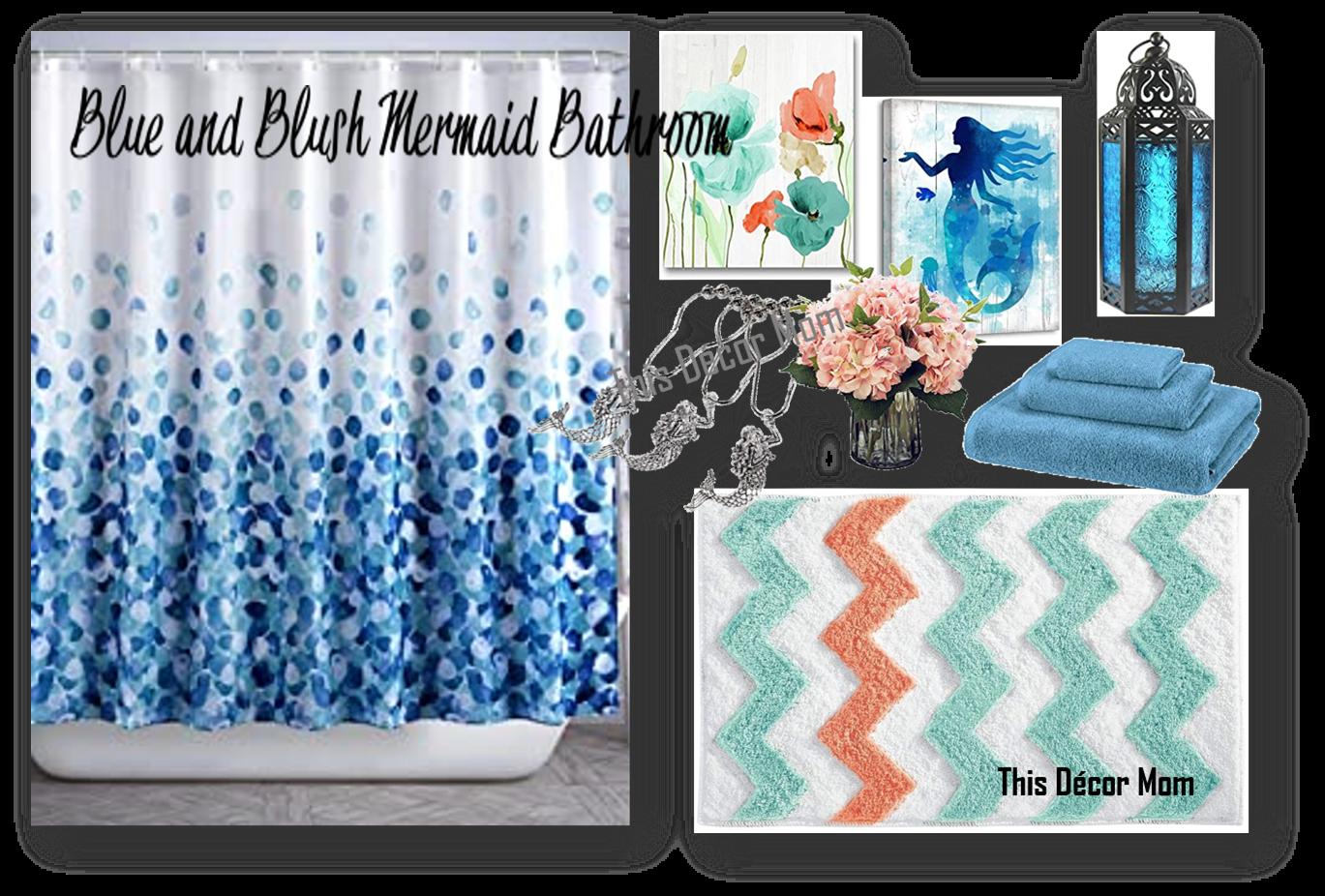Blue and Blush Mermaid Bathroom