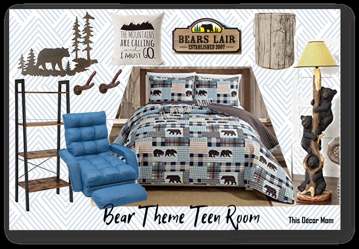 Bear Themed Teen Room