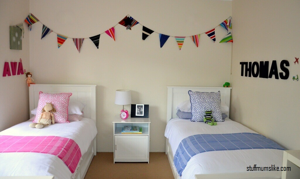 Personal and Shared Zones in shared bedrooms