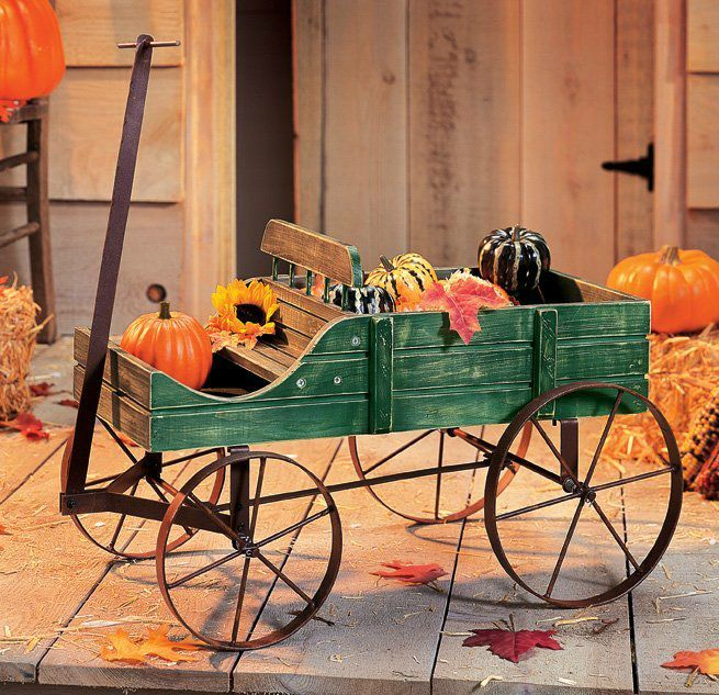 Fall Decorating Ideas - wagon