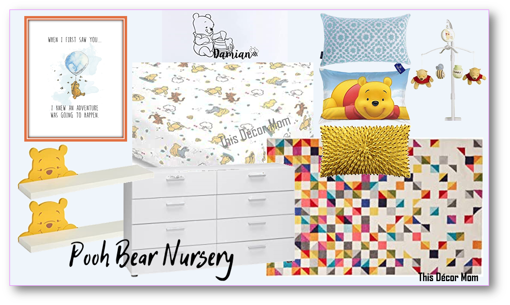 Vision Board 2 - Winnie the Pooh Nursery