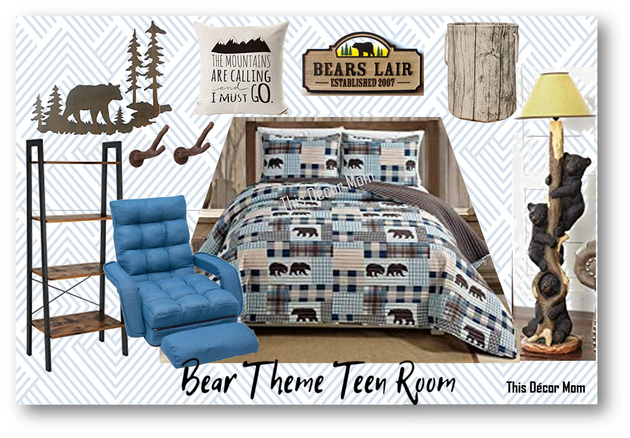 Bear Themed Teen Room