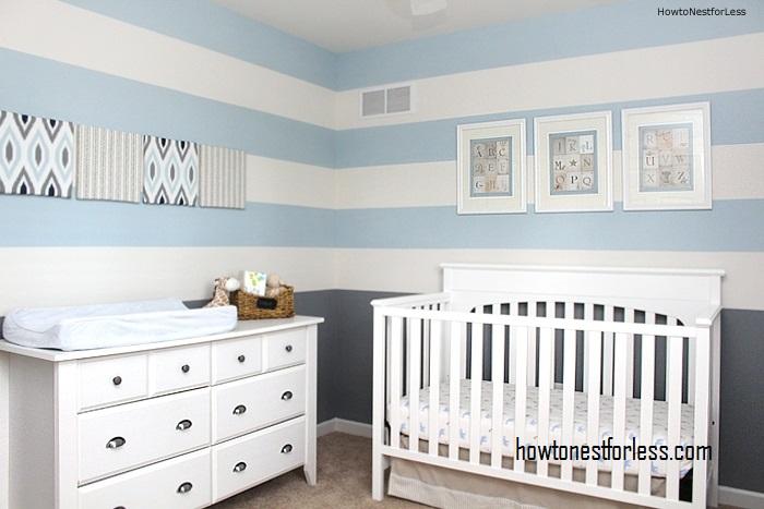 Blue and Grey Baby Boy Nursery
