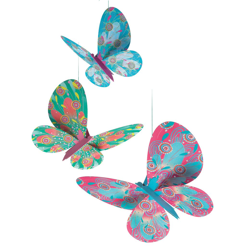 Glitter Butterflies Airy Mobile