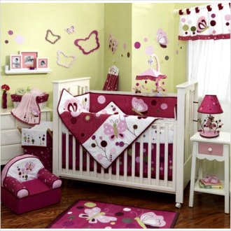Butterfly nursery decor photograph butterfly decor for nur for Baby girl butterfly bedroom ideas