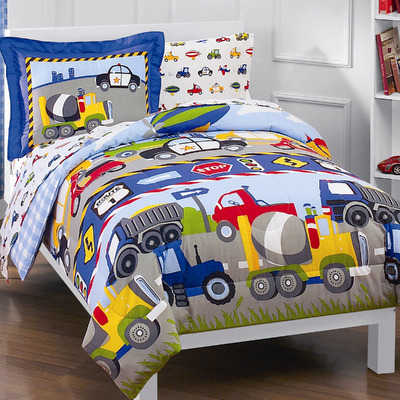Kids Comforters - Trains and Trucks