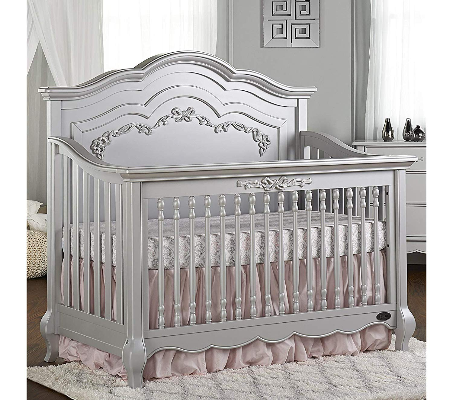 Еvоlur Deluxe Premium Collection 5-in-1 Convertible Crib Ivory Lace