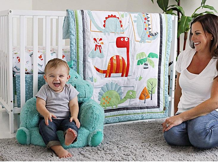 Trend Lab Dinosaur Roar 3 Piece Crib Bedding Set, Multi