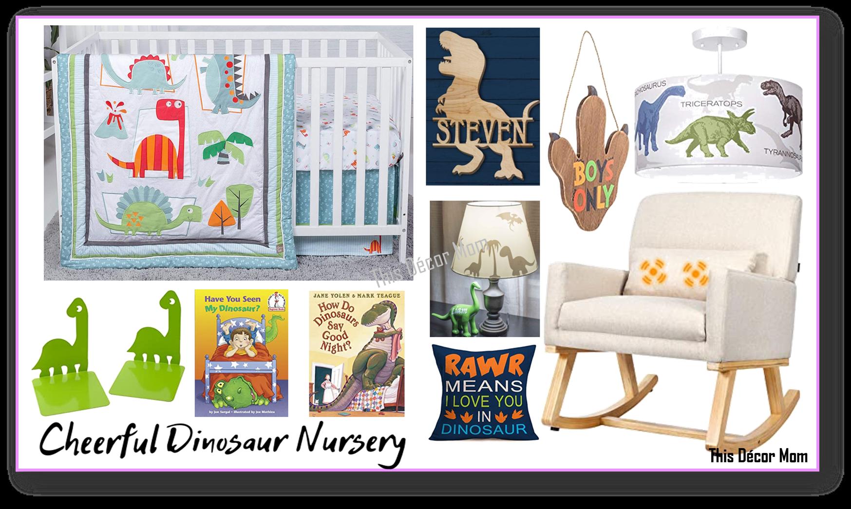 Dinosaur Nursery Mood Board