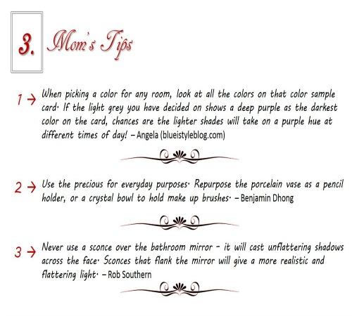 Mom's Tips