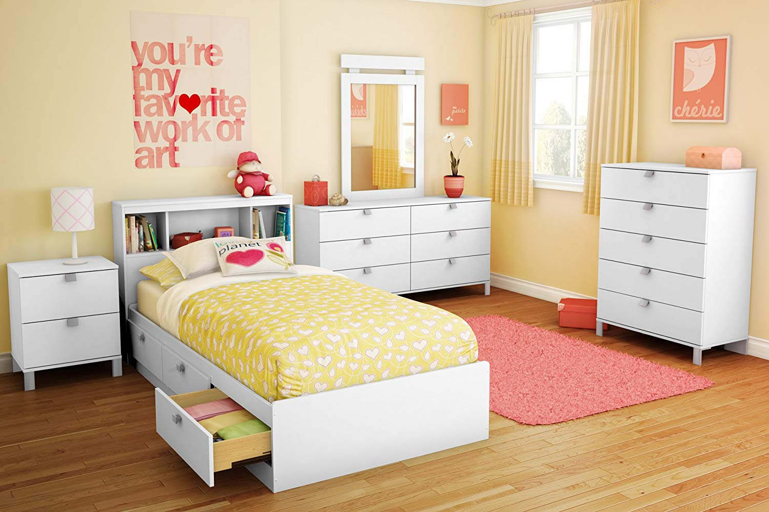 Spark Twin Storage Bed and Bookcase Headboard
