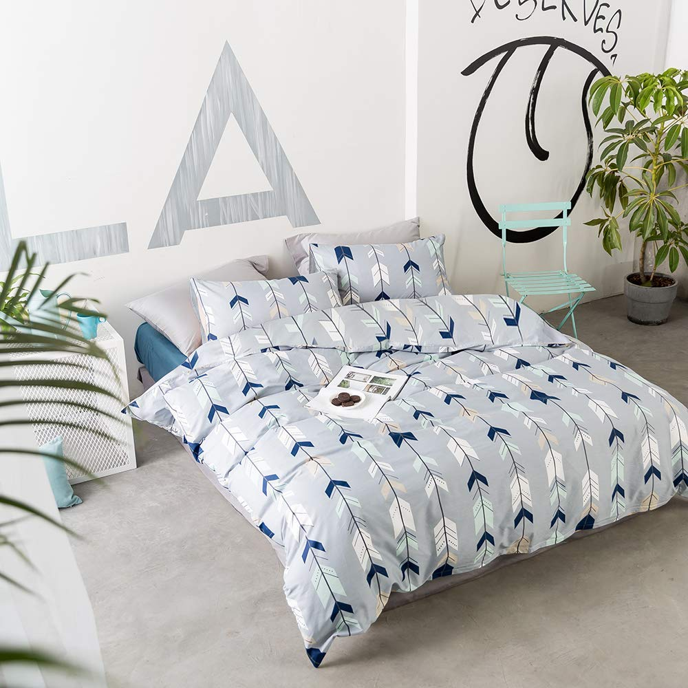 Arrows Triangle Quilt Cover Twin with Zipper Closure