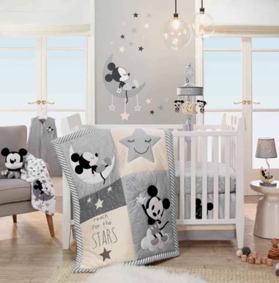 Mickey Mouse 4 pc Nursery Bedding Set