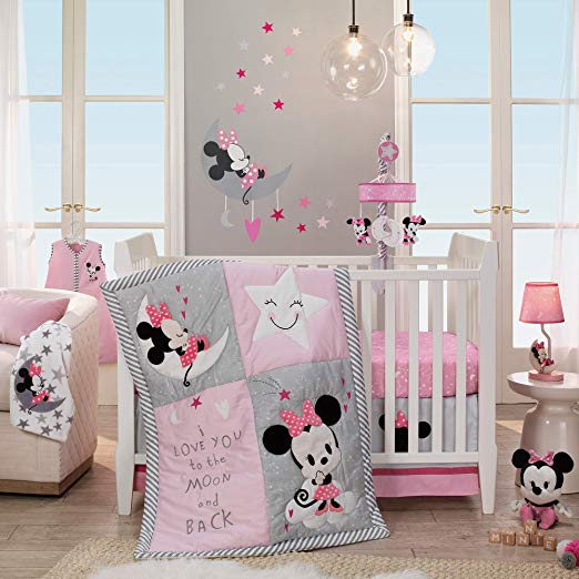 Lambs & Ivy Disney Baby Nursery Crib Bedding Set - Minnie Mouse