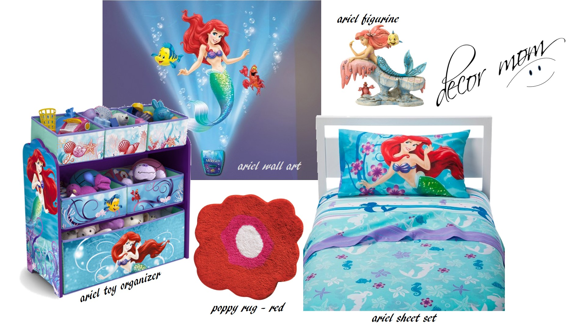 Ariel Little Mermaid Room