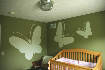 Deep Forest Green Baby Nursery