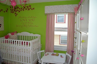 Lime Green and Pink Baby Nursery