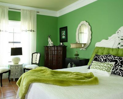 Elegant Green Teen Girls Bedroom