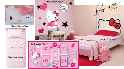 Vision Board 1 - Hello Kitty Girls Bedroom