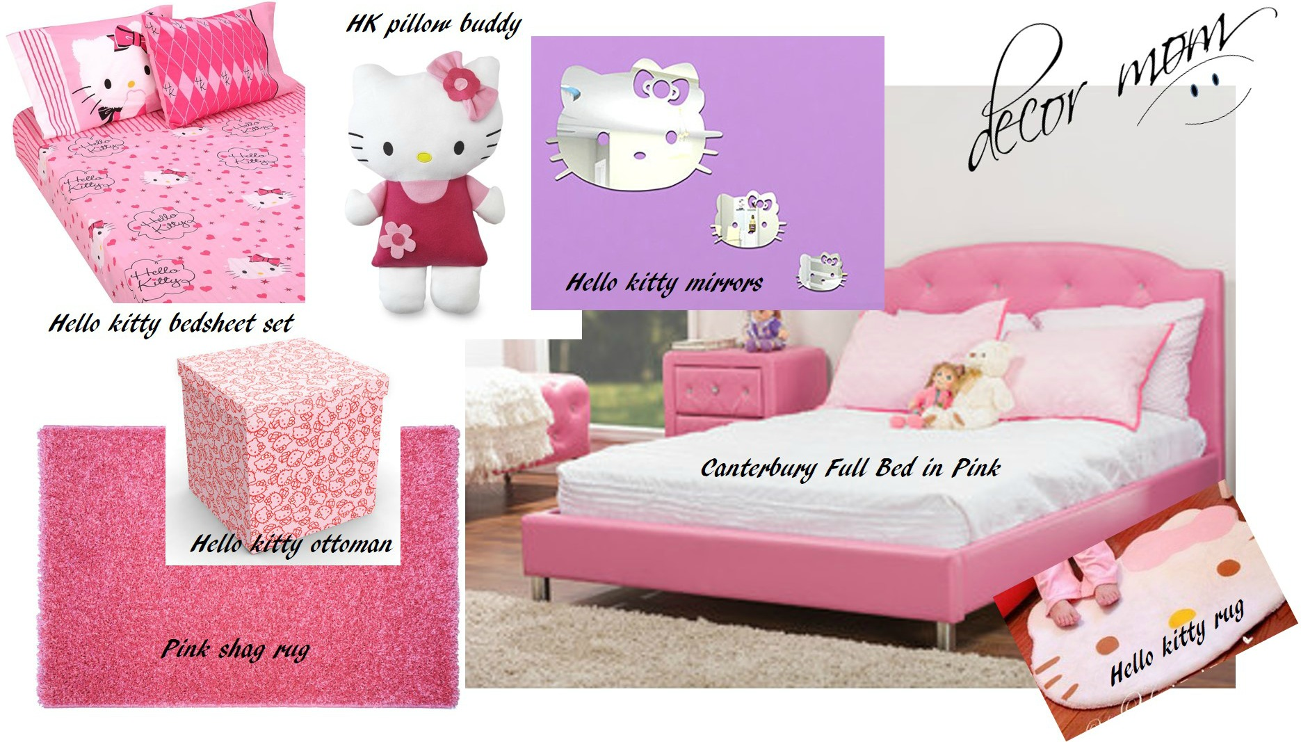 Hello Kitty Bedding - Vision Board 2 - Teens