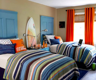 Homemade Headboards in Shared Boys Bedrooms
