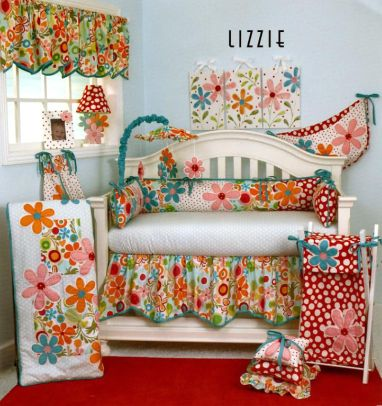 Nursery Bedding - floral designs