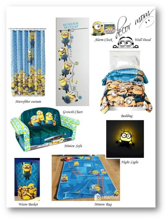 Minion Room Decor - Vision Board 1 - Minion Takeover