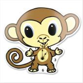 Monkey Nursery - Monkey clock