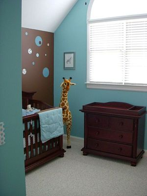 painting ideas for kids rooms. Paint a part of the wall or