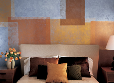 Painting Kids Rooms - Geometric Faux Painting