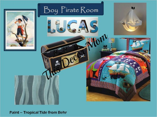 Pirate Theme - Boy Bedroom