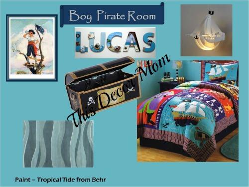 Pirate Theme - Boy Bedroom
