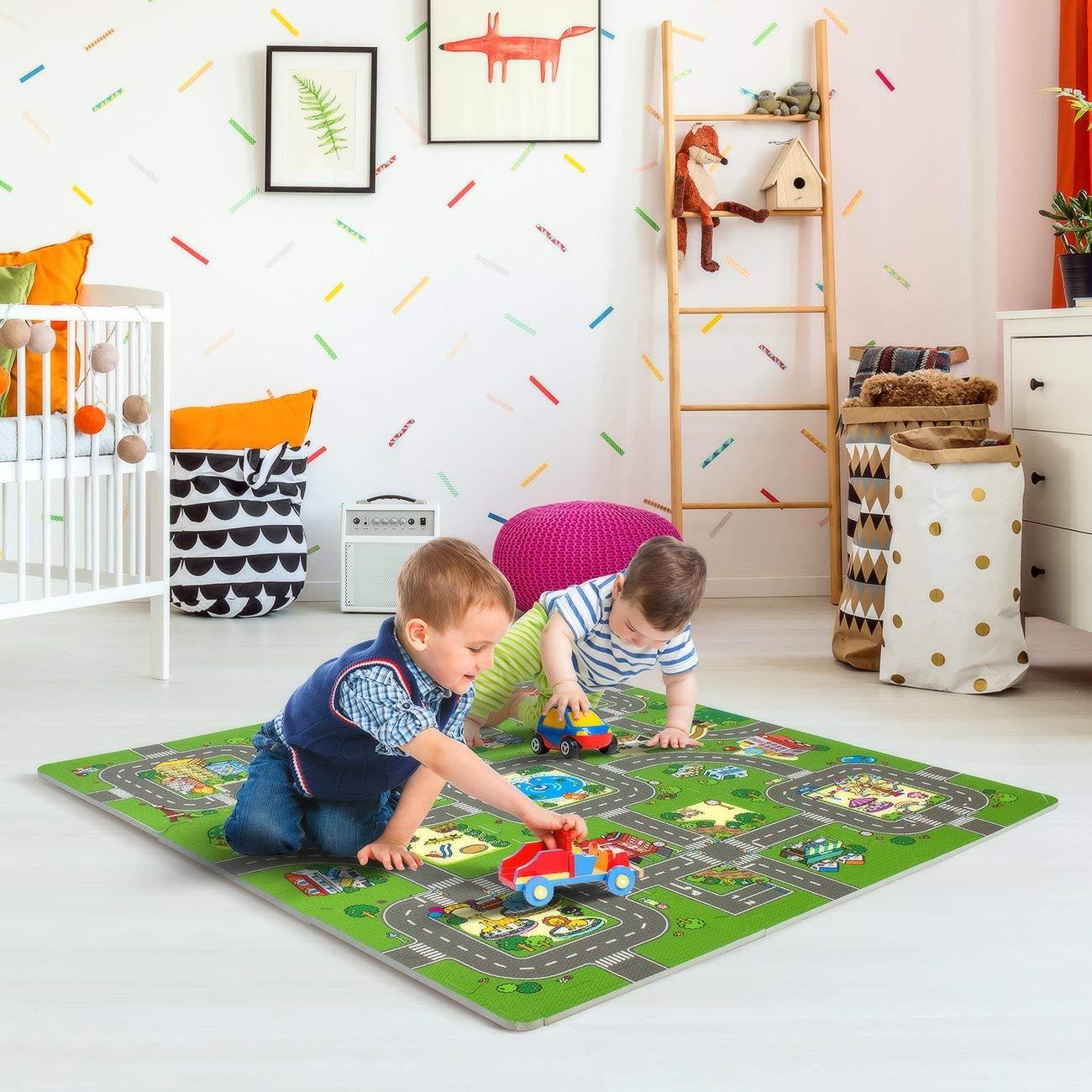 Traffic Play mat Puzzle Foam Interlocking Tiles