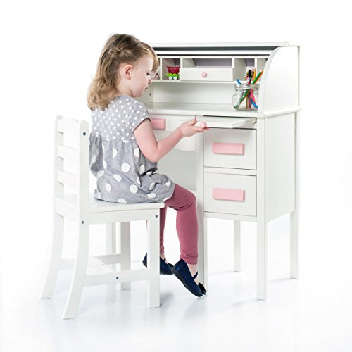 Kids Jr Roll-Top Desk - White