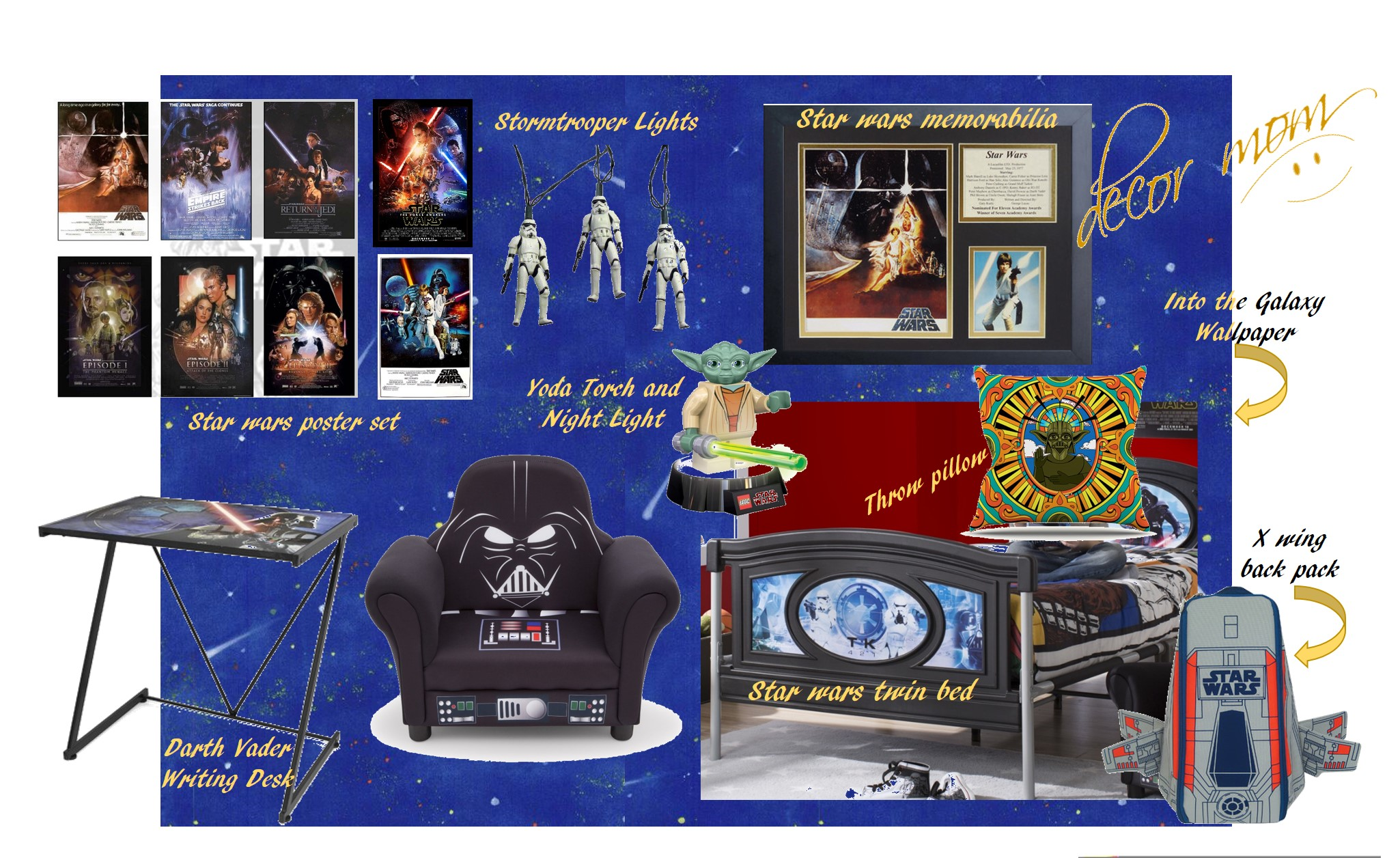 Star Wars Bedroom Vision Board 2