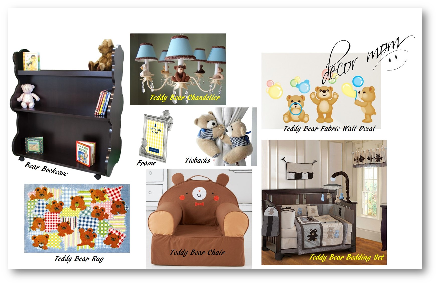 Teddy Bear Nursery Theme - Vision Board 1