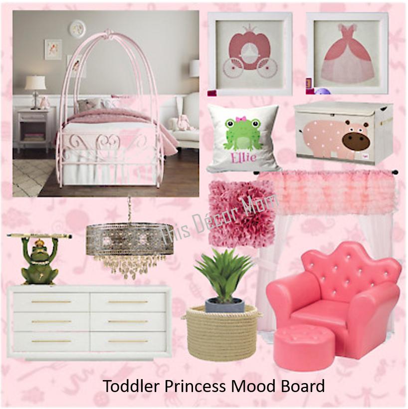 Toddler Princess Mood Board