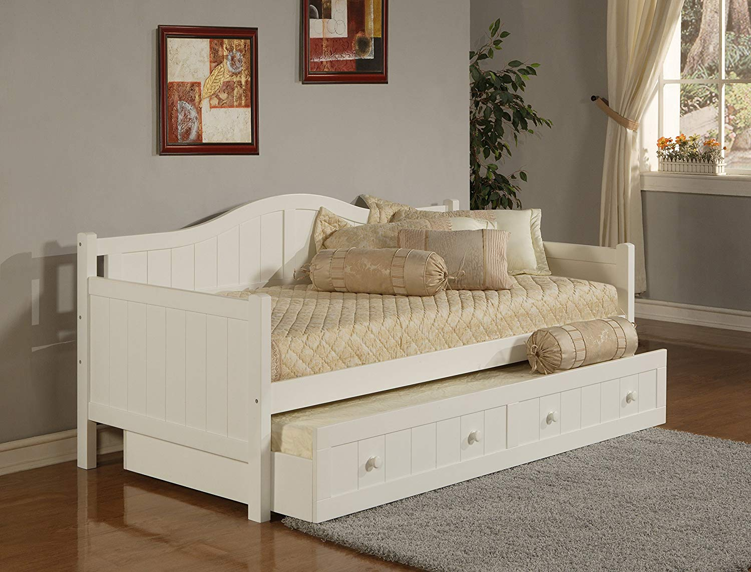 White Daybed with Trundle