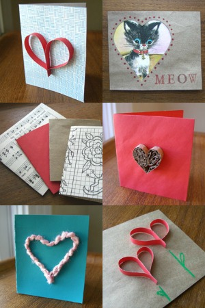 recycled kids valentine cards