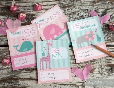 Free Printable Kids Valentine Cards