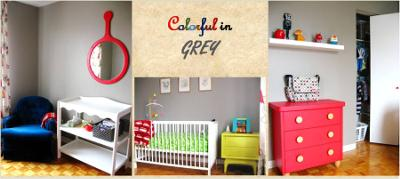 Colorful in Grey Baby Nursery