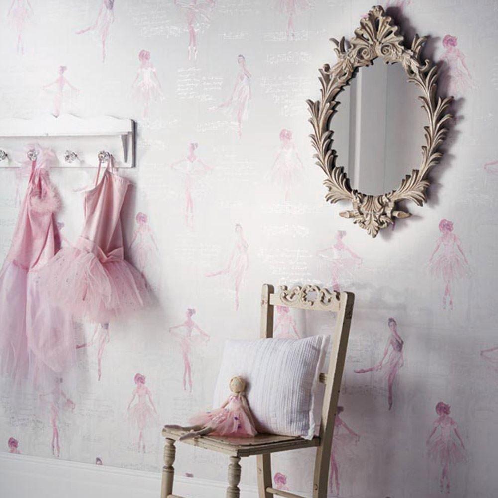Pirouette Ballet Wallpaper Pink