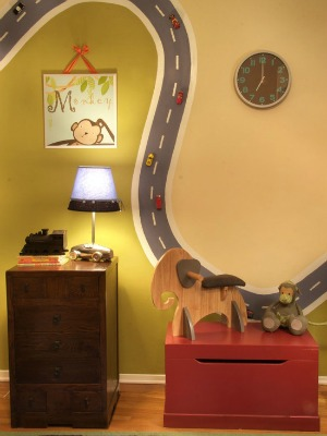 Childrens Room Decor - Magnetic Roads