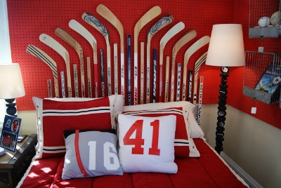 Ice Hockey Headboard
