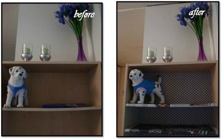 DIY Bookcase - Furniture makeover personalizes each piece