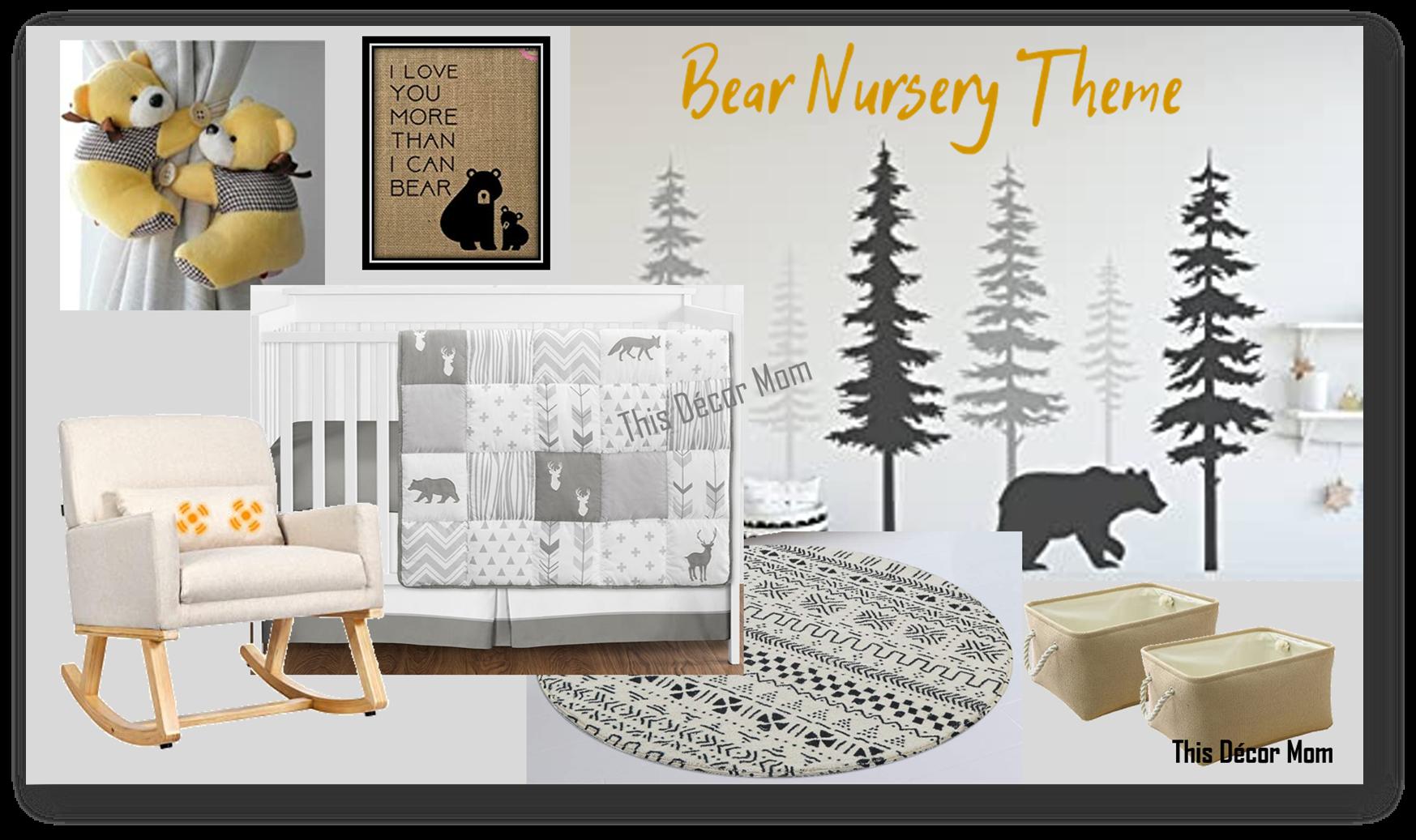Bear Nursery Theme - Vision Board 1